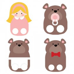 Goldilocks Finger Puppets - CS