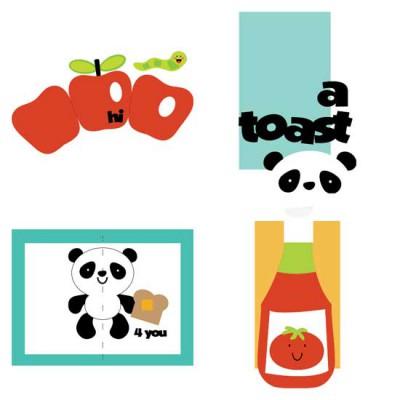 Food Fun Pop Up Cards - CS