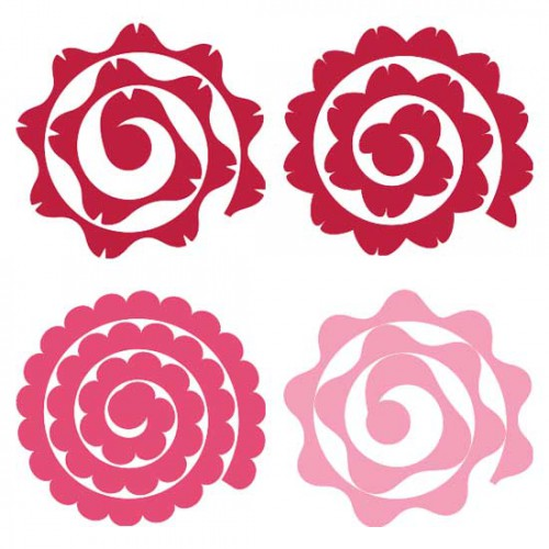 Quilled flowers cs for Rolled paper roses template