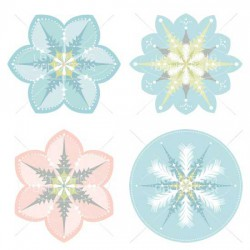 Holiday Frosting - Snowflakes - GS
