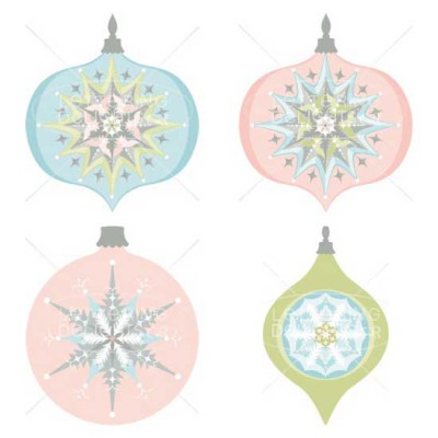 Holiday Frosting - Ornaments - PC