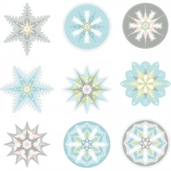 Holiday Frosting Snowflakes - PC
