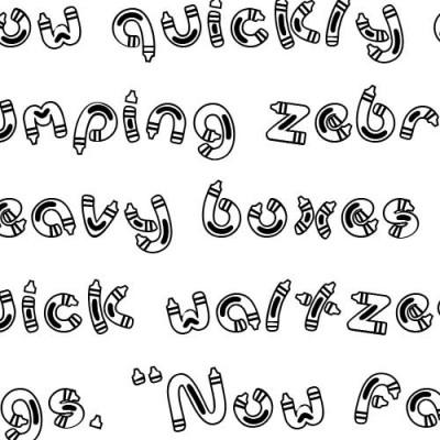 Scrap Crayon - Font
