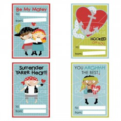 Be My Matey Valentine Cards - PR