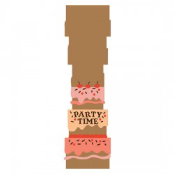 Party Time Cake - Card - CS