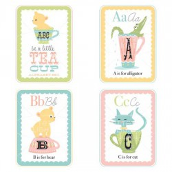 Little Teacups Alphabet Cards - Girl - GS