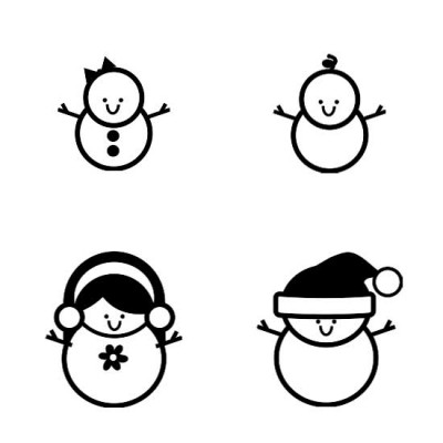 Stringbean Snowpeople - SS