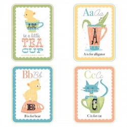 Little Teacups Alphabet Cards - Boy - GS