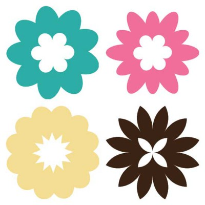 Simple Flower Shapes - SS