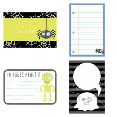 Little Boo-ligan - Journaling Cards - GS
