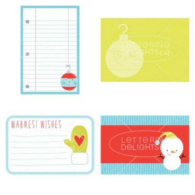 Little Ho-ho-ho-ligan - Journaling Cards - GS