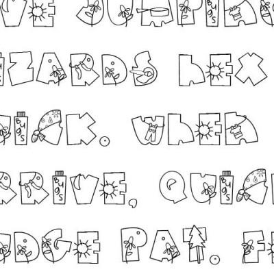Doodle Camp - Font