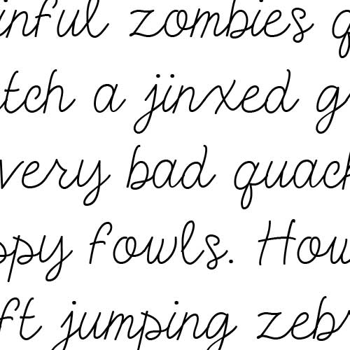 Simple Cursive Font