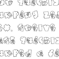 Doodle Denim - Font