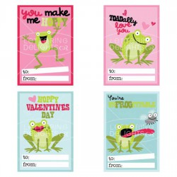 Frogs and Kisses - Valentines - PR
