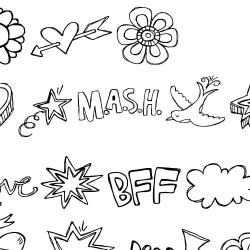 DB Dear Diary Doodles - DB