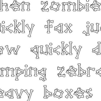 Scrap Bones - Font