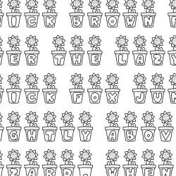 LD Sunflower - Font