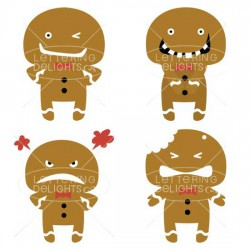Gingerbread Emoticons - GS