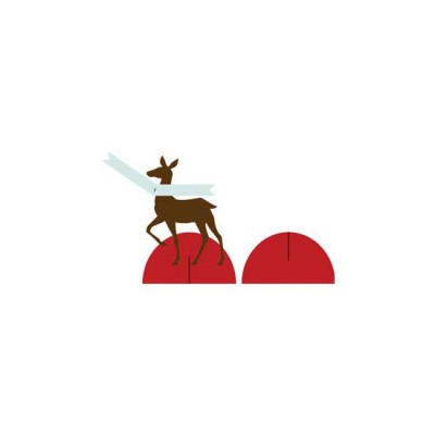Blooming Christmas Deer Placecard Holder - CP