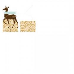 Blooming Christmas Deer Placecard Holder - PR
