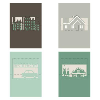 Pop-Out Cards Christmas Scenes - CS