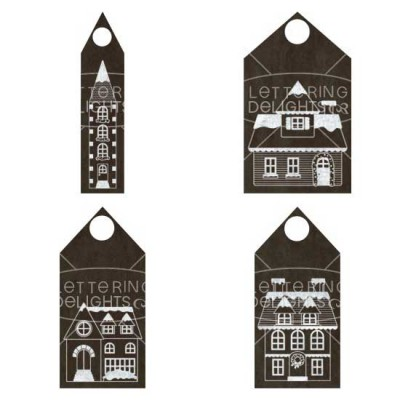 Chalked Christmas Village Tags - PR
