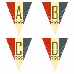 Olympic Party Pennants - PR