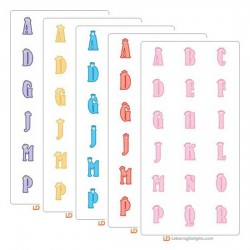 Tiny Princess Alphabet Six Pack