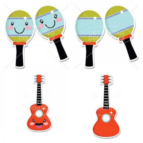 Musical Instruments And Symbols Gs