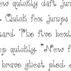LD Christmas Bulbs - Font