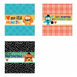 Monster and Me - Candy Bar Wrappers - PR