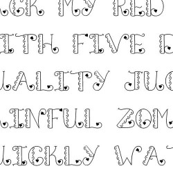 LD Luv 'n Lace - Font