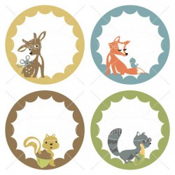 Wee Gather Together Animal - Labels - GS