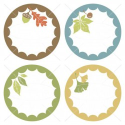 Wee Gather Together Leaf - Labels - GS