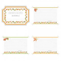 Wee Gather Together Recipe Cards