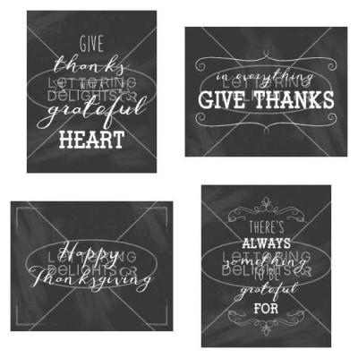Give Thanks Printables - PR