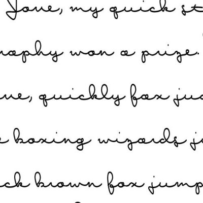 LD Write a Letter - Font