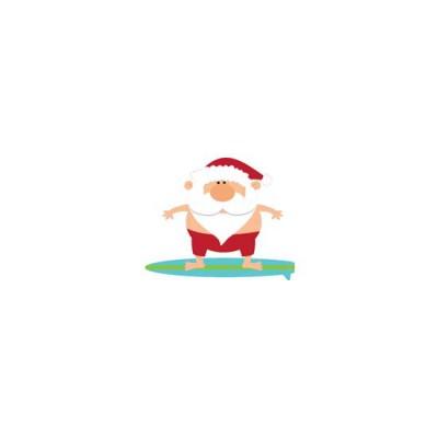 Warmest Wishes - Surfing Santa - CS