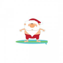 Warmest Wishes - Surfing Santa - GS