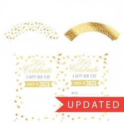 Kiss the Year Goodbye Party Printables - PR
