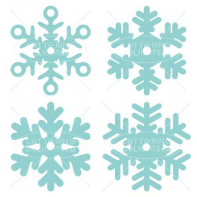 Snowflake Straw Toppers - SS