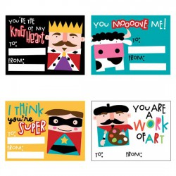 Squawk Box Kiddy Valentine Cards - PR