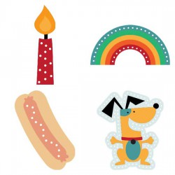 Hot Diggity Dog Lace Cards - CP