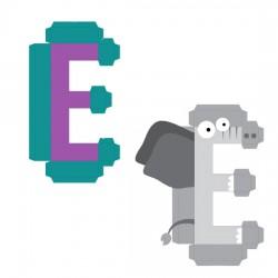 Animal Alphabet E - CP