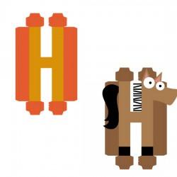 Animal Alphabet H - CP