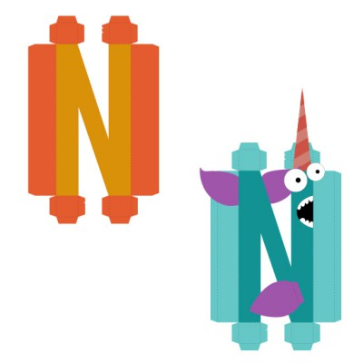 Animal Alphabet N - CP