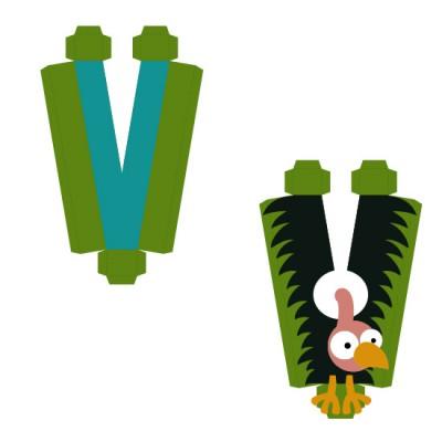 Animal Alphabet V - CP
