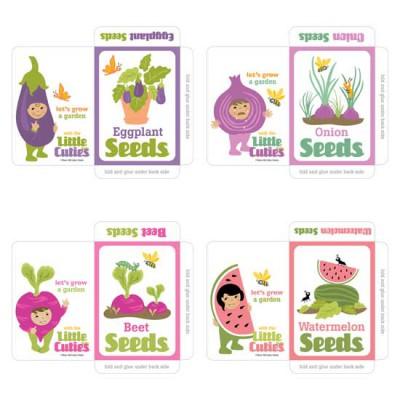 Little Cuties Garden - Seed Packets - PR