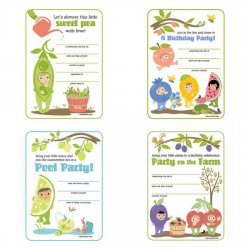 Little Cuties Garden - Party Cards - PR